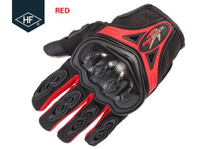 Riding Aftermarket Motorcycle Accessories Red Blue Touch Finger Full Finger Motorcycle Gloves