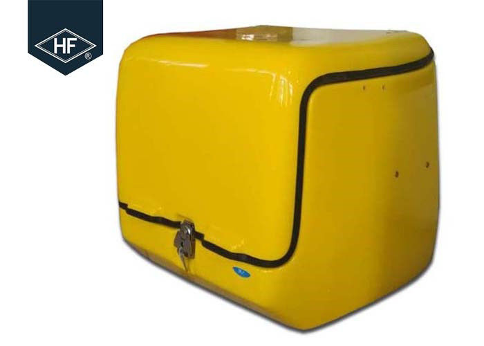 Waterproof Motorbike Food Delivery Box 139L Volume Shock Resistance Yellow Color